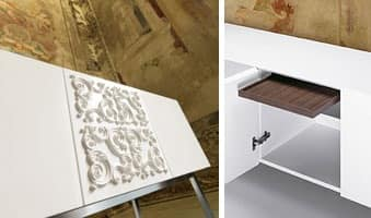 Adorna, White lacquered sideboard, modern style