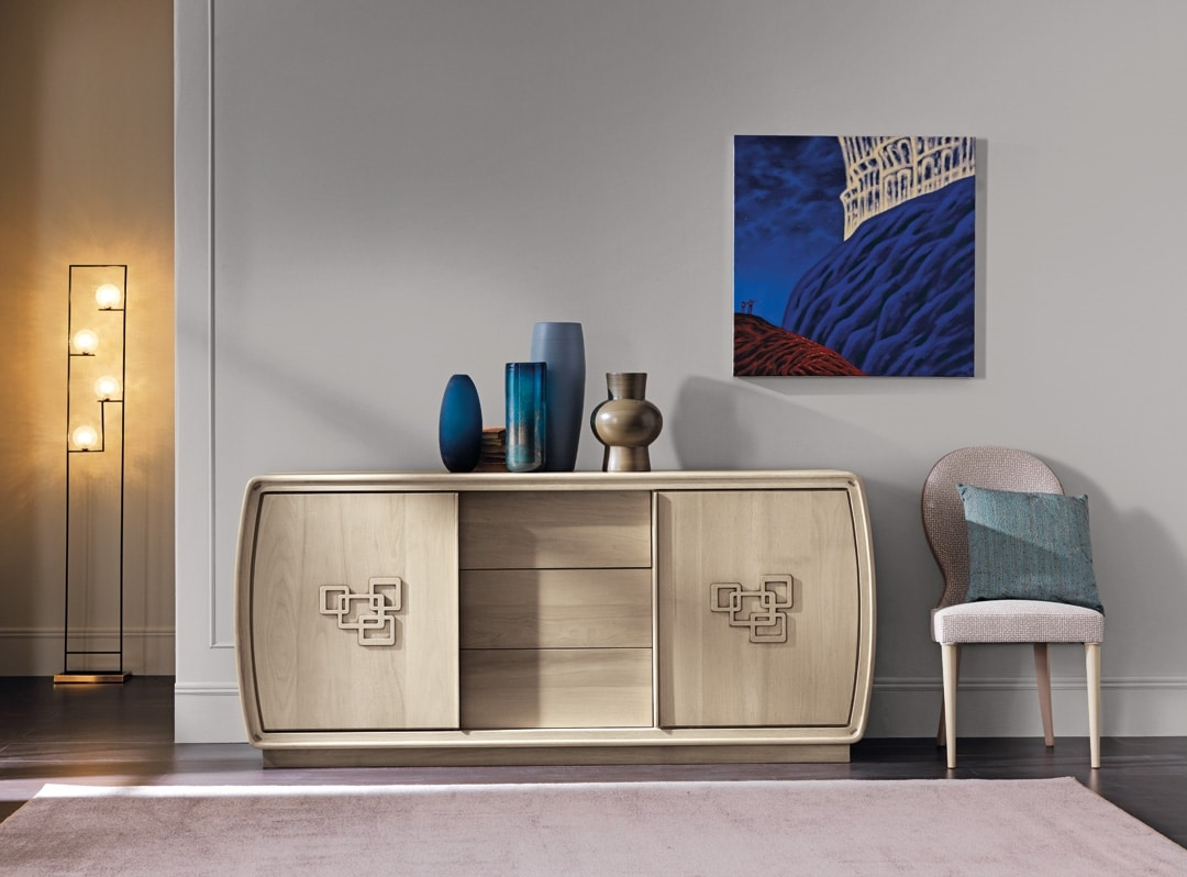 Amarcord Art. AM001, Sideboard with sliding doors and drawers