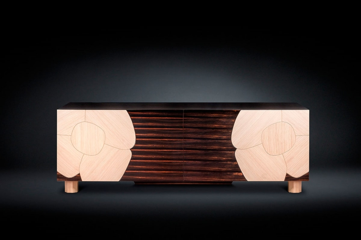 Andy, Sideboard with floral decoration