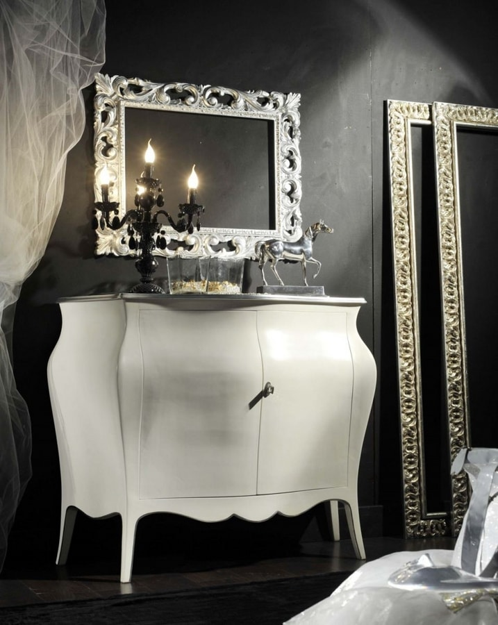 Arcobaleno sideboard, White lacquered sideboard