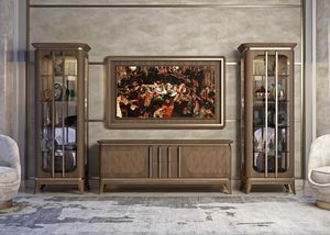 Art. 5005, Low cabinet in canaletto walnut
