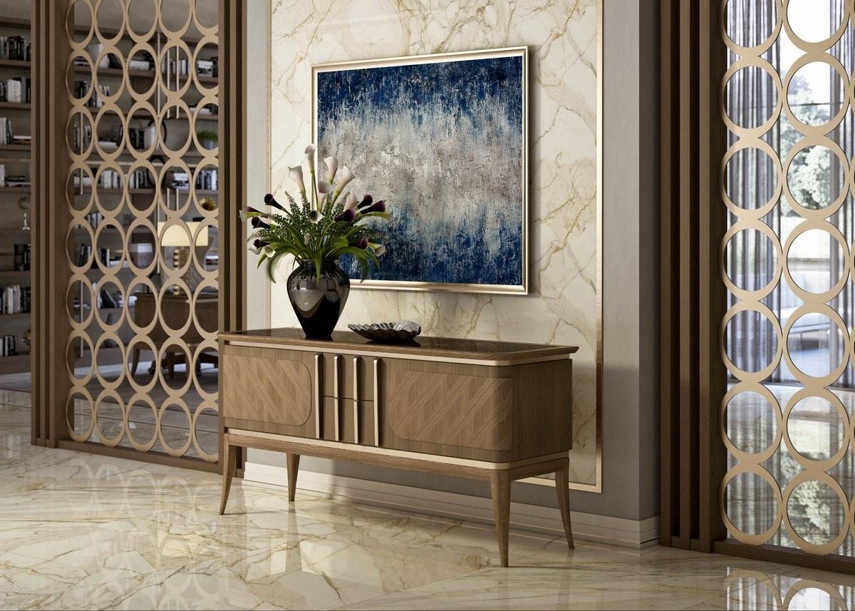 Art. 5025, Low cabinet in walnut wood