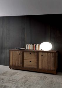 Art. 710MD Industrial Vintage Madia, Sideboard in solid fir wood, vintage style