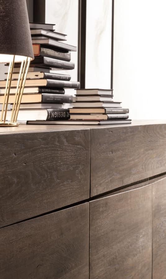 Artù sideboard, Sideboard in solid wood
