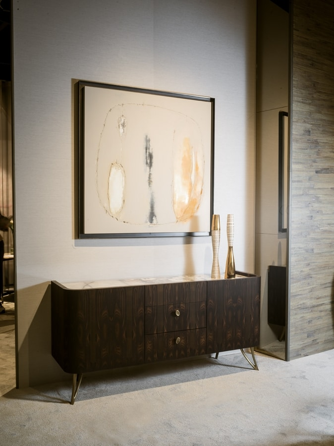 ATENA sideboard GEA Collection, Sideboard with rounded shapes
