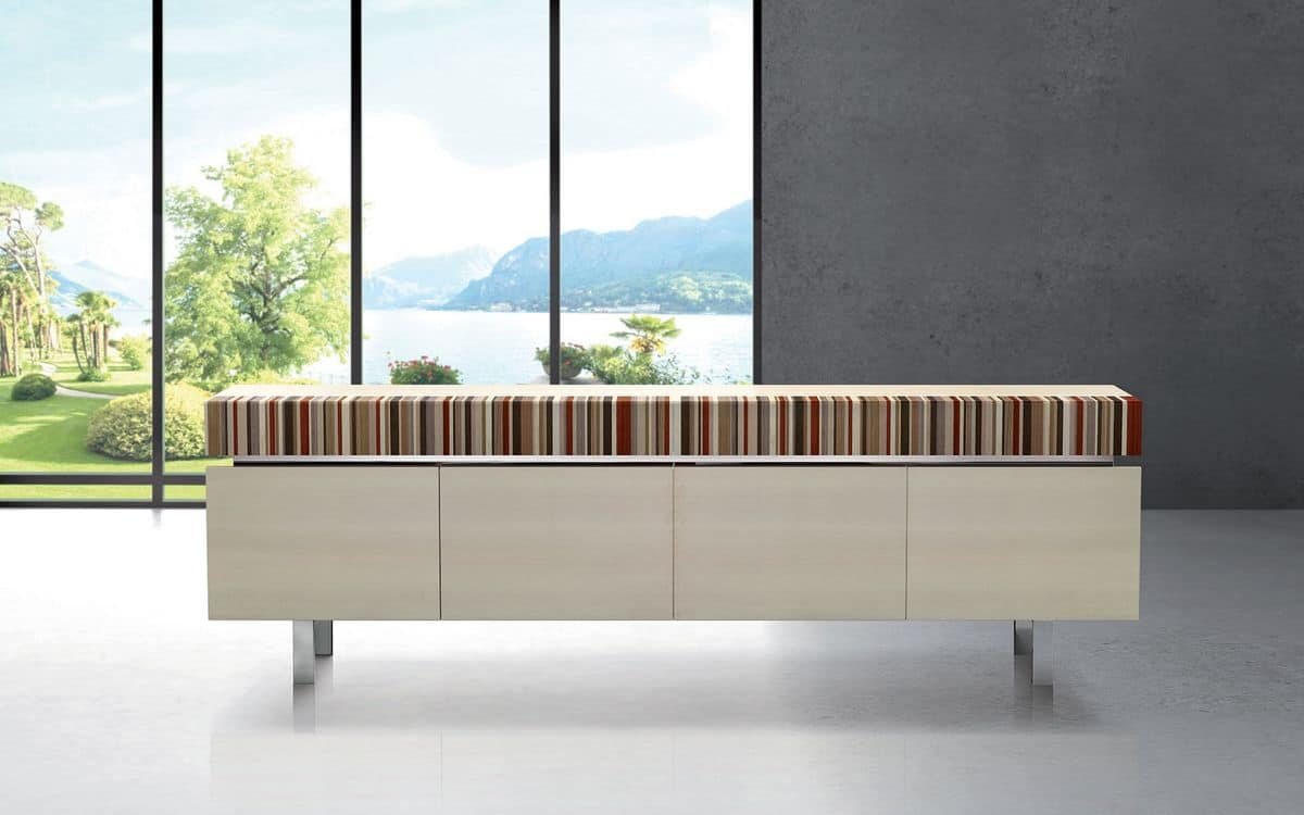 ATHENA 2.7 BC ACERO FRISEE, Maple essence sideboard, ideal for modern environments