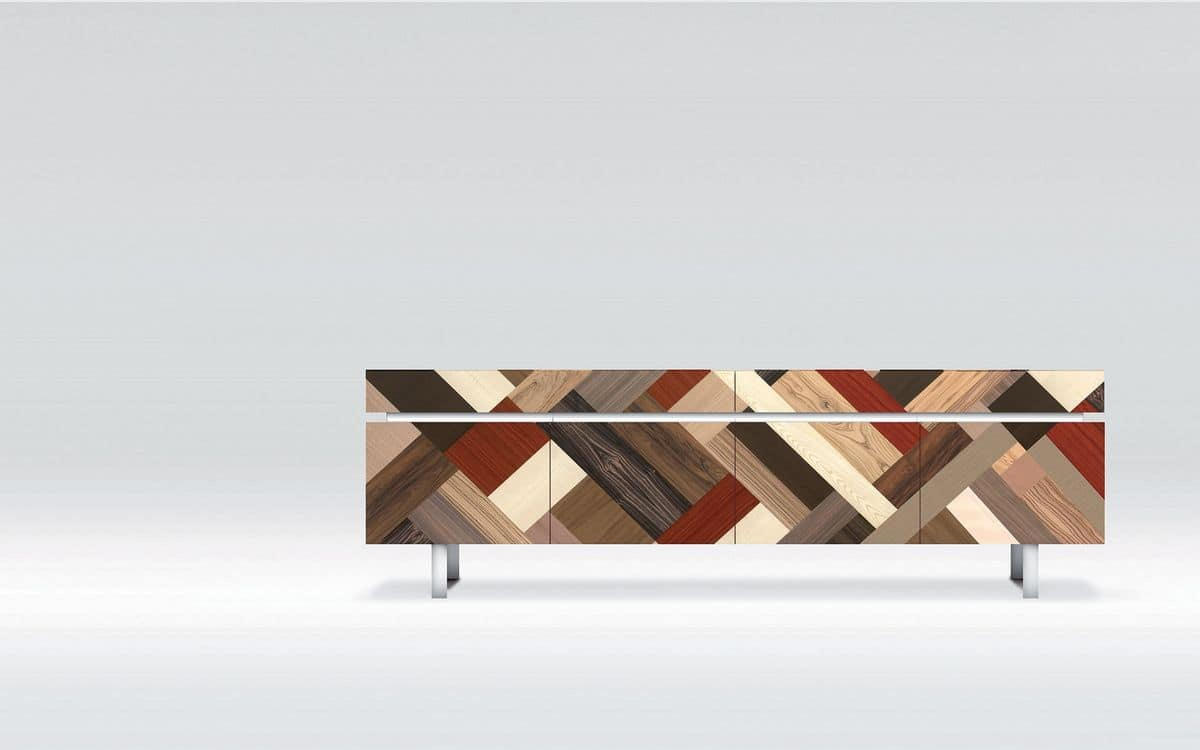 ATHENA 2.7 PW45, Design sideboard, ideal for residential use, 4 doors