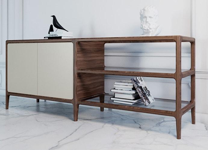 Bellagio 1741/F, Sideboard in ash wood