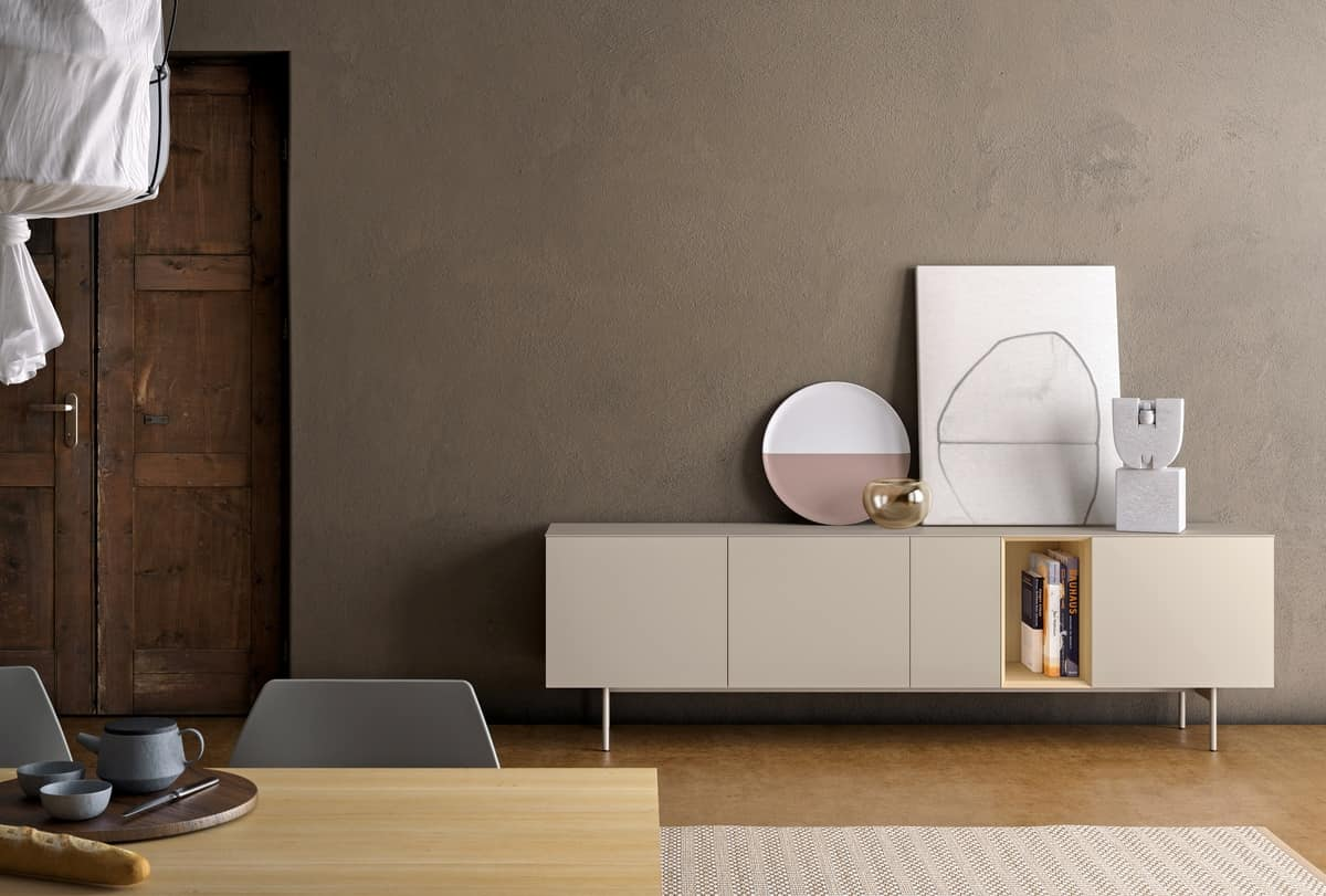 Brema, Cabinet for living rooms, with push-pull system