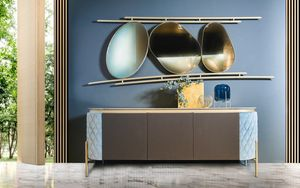 Brera sideboard, Sideboard with sides covered in fabric