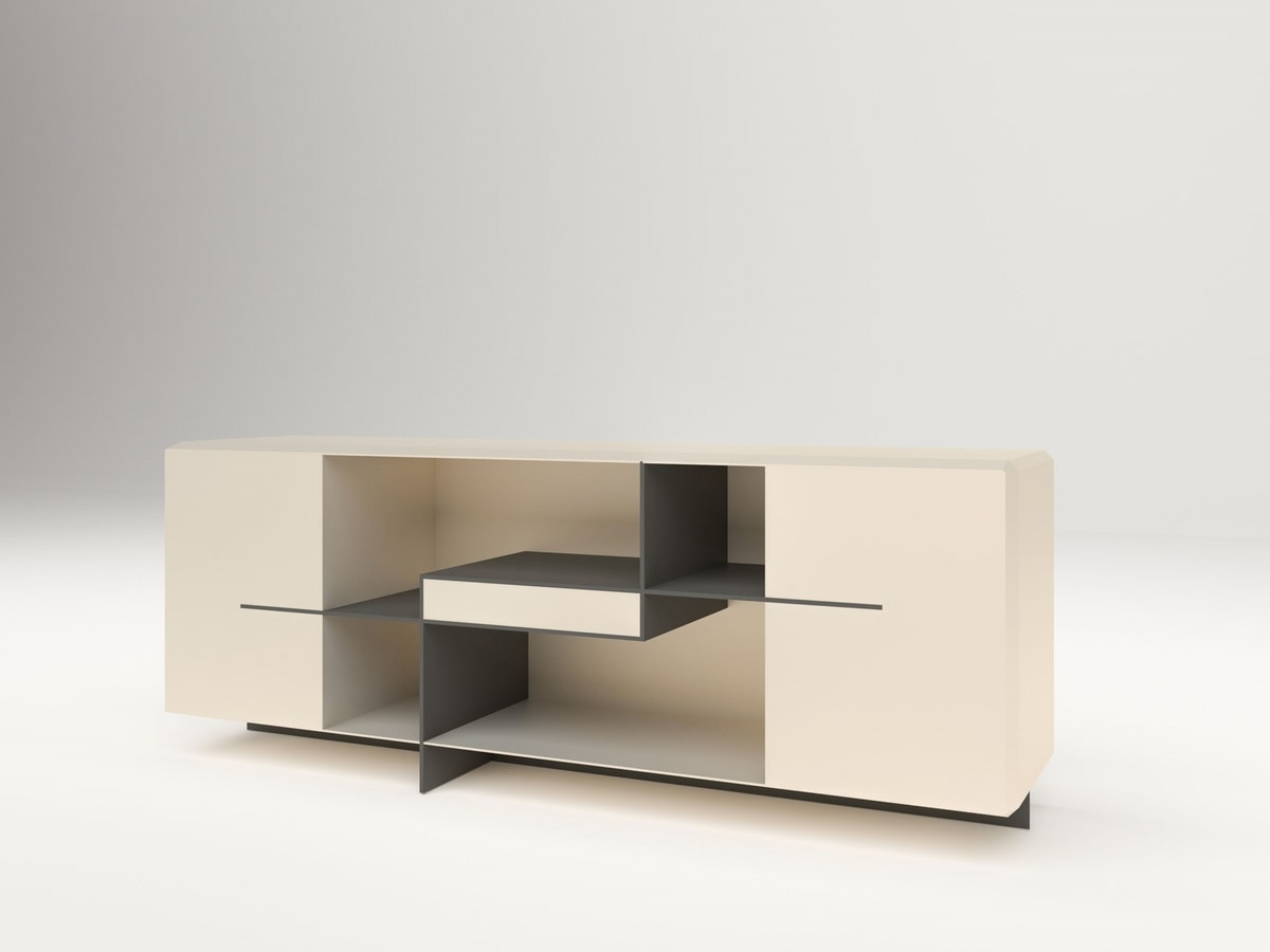 Brilliant, Modern sideboard, in lacquered wood