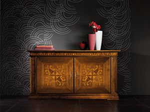 Ca' Venier Art. CV07/D, Sideboard with handcrafted inlaid doors
