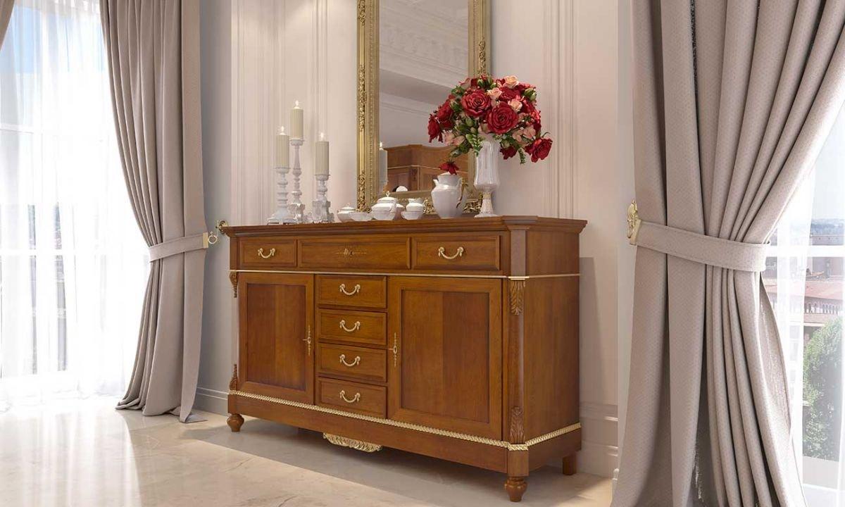 Carlotta credenza, Classic sideboard in walnut