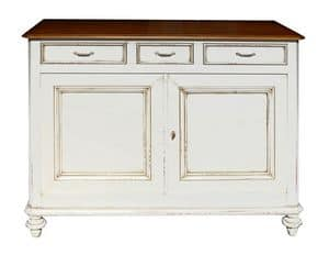 Vanille BR.0008, Venetian sideboard, with 2 doors and 3 drawers