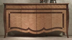 CR59 Charme sideboard, Sideboard in inlaid wood, for luxury hotels