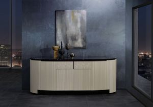 CR65 CR65B sideboard, Sideboard with oval top
