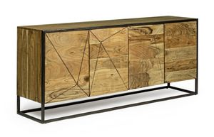 Sideboard 4A Egon, Sideboard in acacia wood
