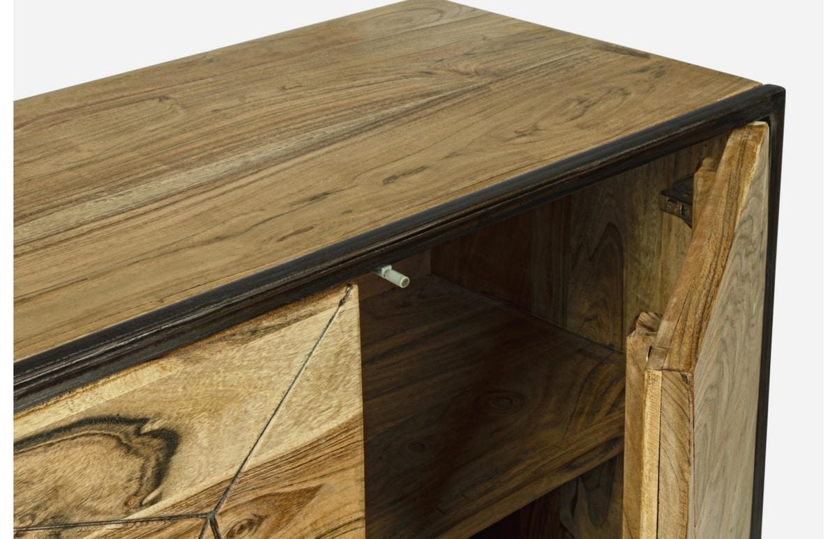 Sideboard 4A Egon, Sideboard in acacia wood