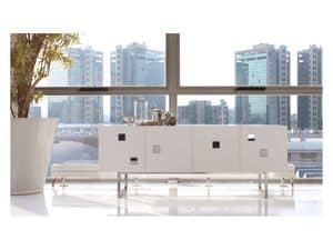 Cubox, Sideboard in white mat or glossy, modern style