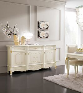 Diamante Art. 2606, Handcrafted decorated sideboard