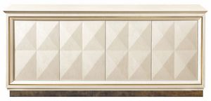 Diamante sideboard with metal base, Sideboard with metal base