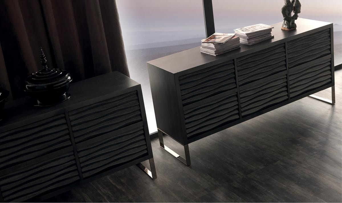 Ebon Art. 790, Modern sideboard, with two closed doors and central glass door