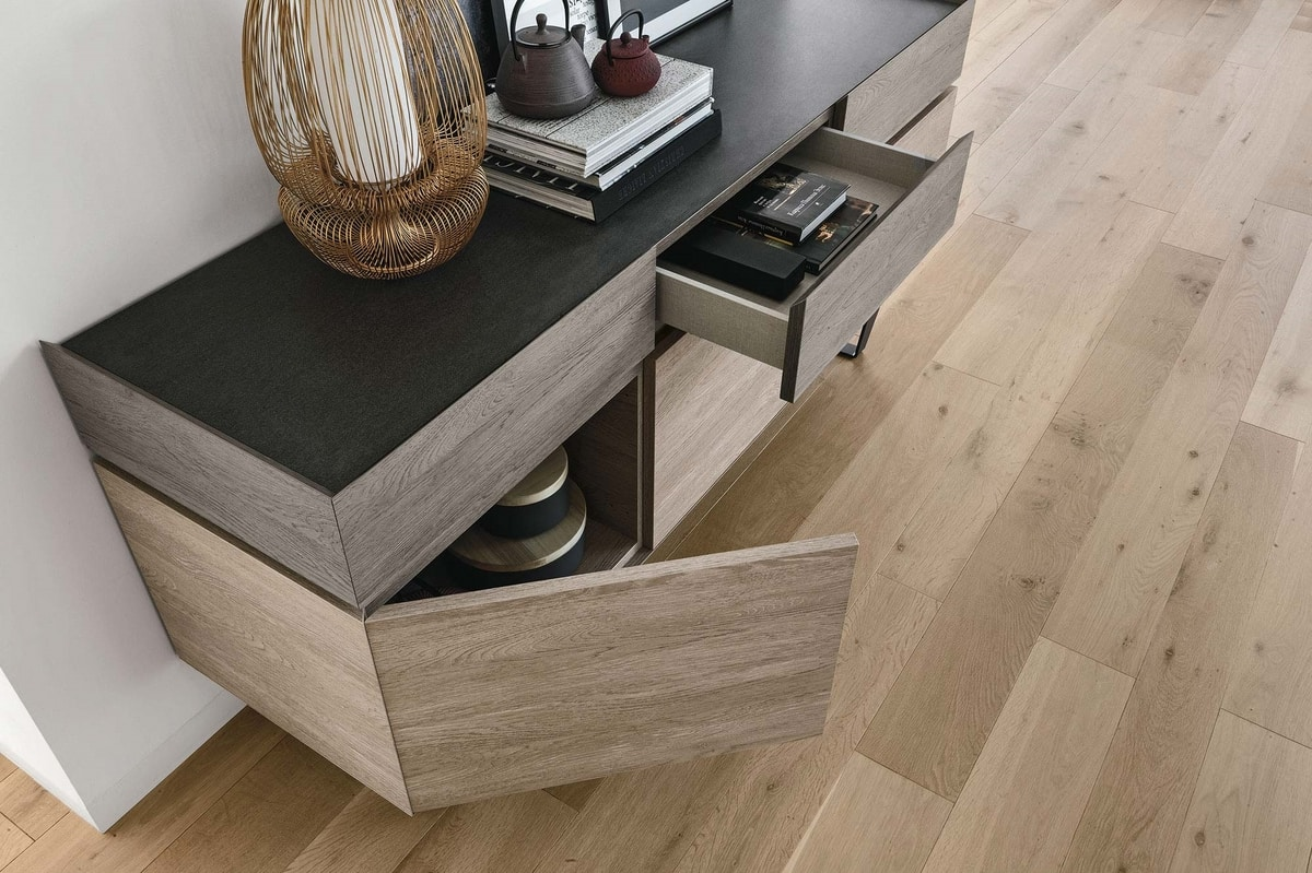 ELECTA MA103, Sideboard with a vintage style, with laminate finish