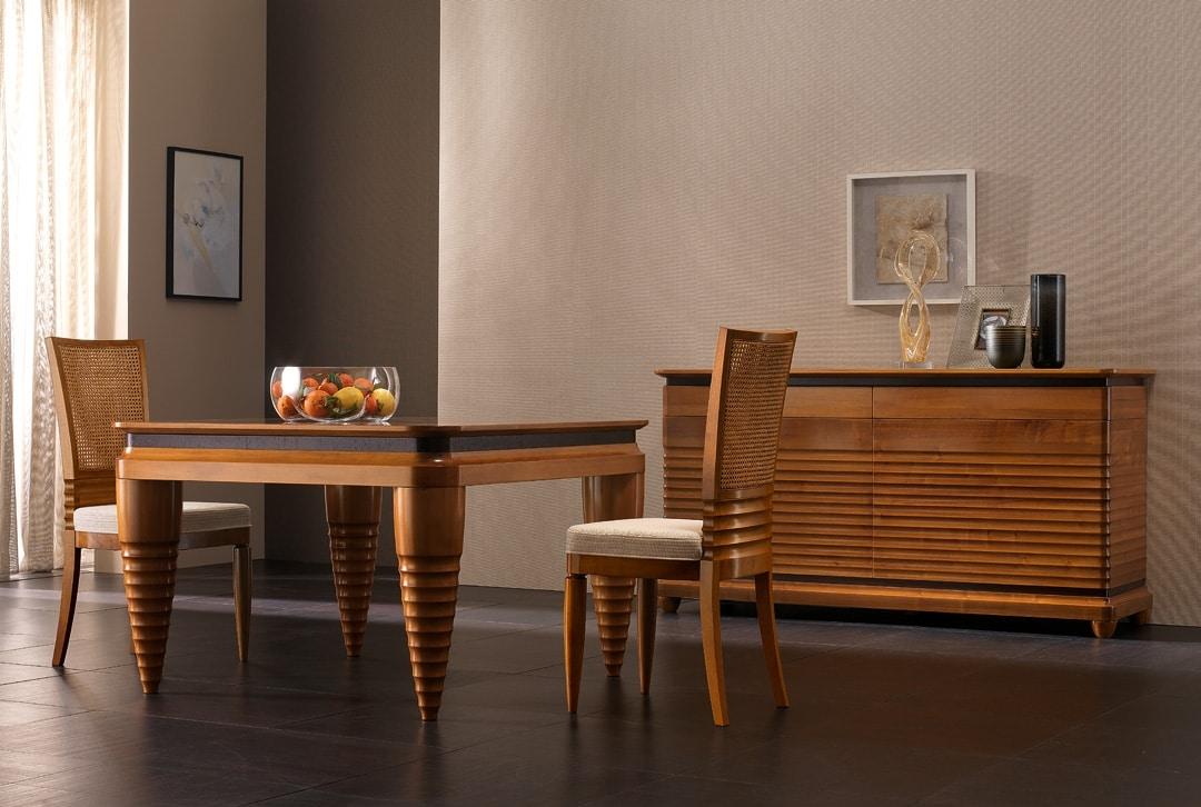 Elettra Art. EL102, Sideboard in wood with 2 doors and 2 drawers