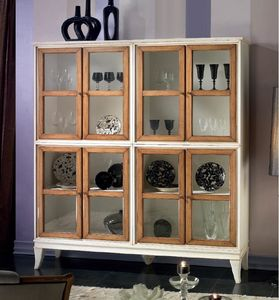English cupboard 8 doors, Lacquered sideboard, with 8 doors
