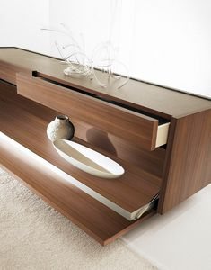 Even C, Design sideboard, with flap and removable tray
