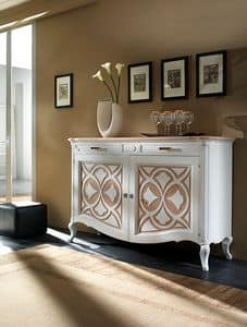F 102 B, Ash contemporary sideboard, with water colors