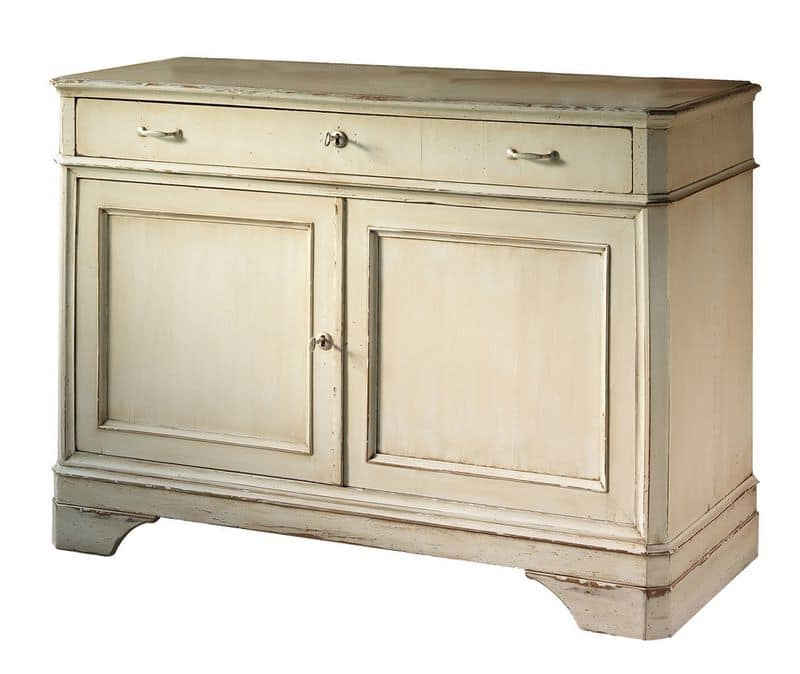 Floriane BR.0003, Sideboard with 2 doors and 1 drawer, classic style