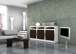 Folke, Modular cabinets with shelves in laminate