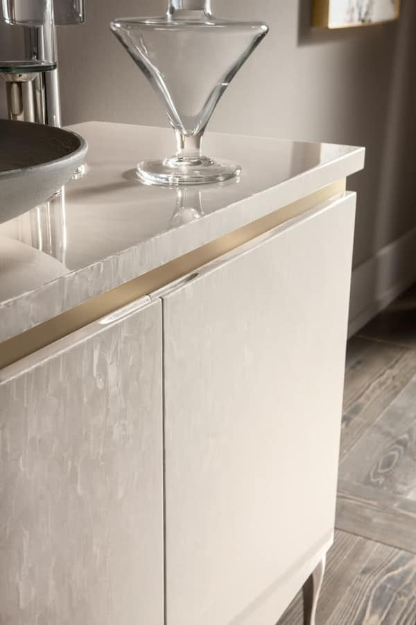 Ghirigori sideboard, Sideboard with a contemporary classic taste