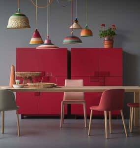 Ginevra, Cabinet with a simple design, with protruding doors