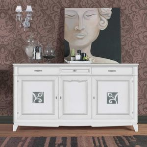 Giorgia GIORGIA3023, Elegant sideboard in white finish