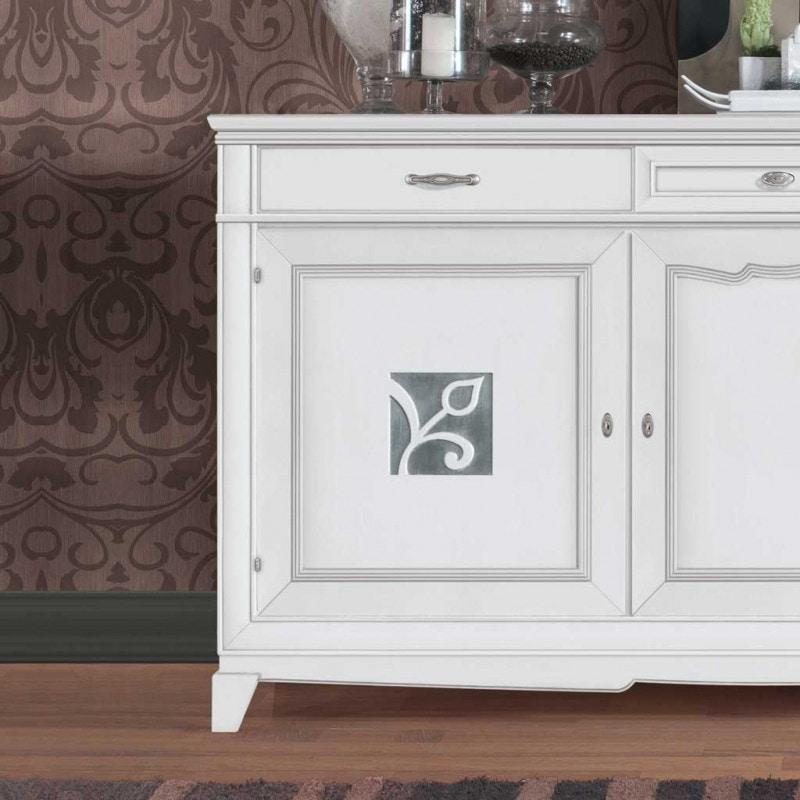 Giorgia GIORGIA3023, Elegant sideboard in white finish
