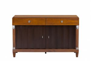 Heritage sideboard with 2 drawers, Two-color sideboard, made of wood
