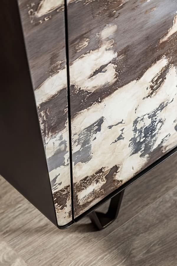 Icaro sideboard, Hand decorated sideboard, with customizable finishes