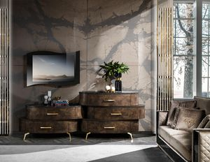 Incanto sideboard, Sideboard with leather effect