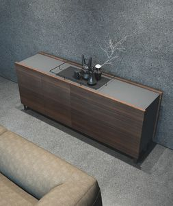 Ironwood sideboard Eucalipto, Modern sideboard with doors and drawers