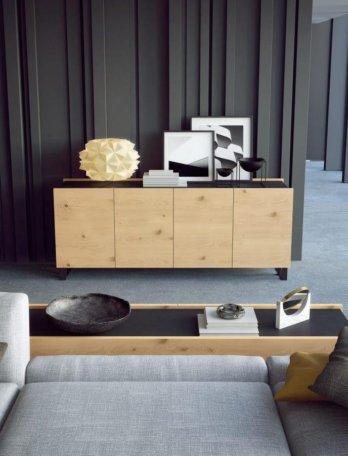 Ironwood sideboard Jupiter oak, Modern sideboards, with oak doors