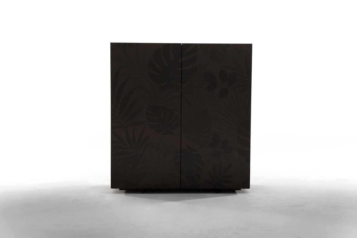 KONG, Sideboard with floral serigraphy