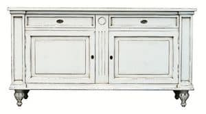 Mélanie BR.0007, Sideboard with 2 doors and 2 drawers, Louis XIV style