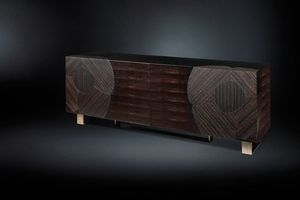 New Andy, Sideboard with four doors in ebony