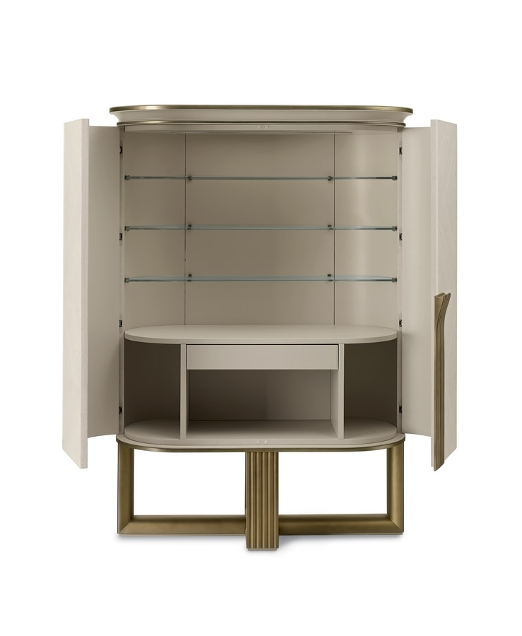 Oliver Art. OL51, Buffet cabinet with glass shelves
