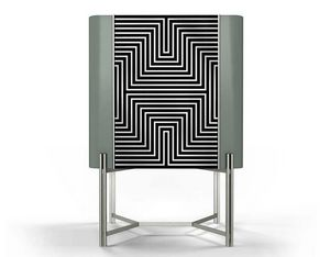 Optic cabinet, Cabinet with optical decoration