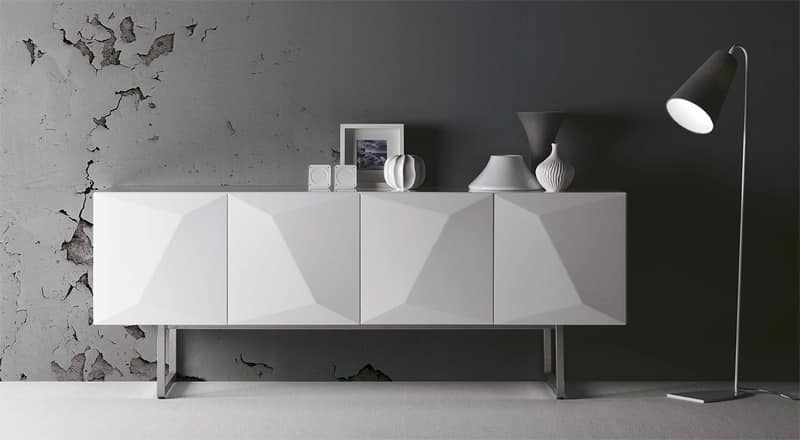 Prisma, Cabinet with hinged doors, wall mounted