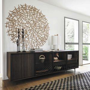 Scrigno, Sideboard with glass doors