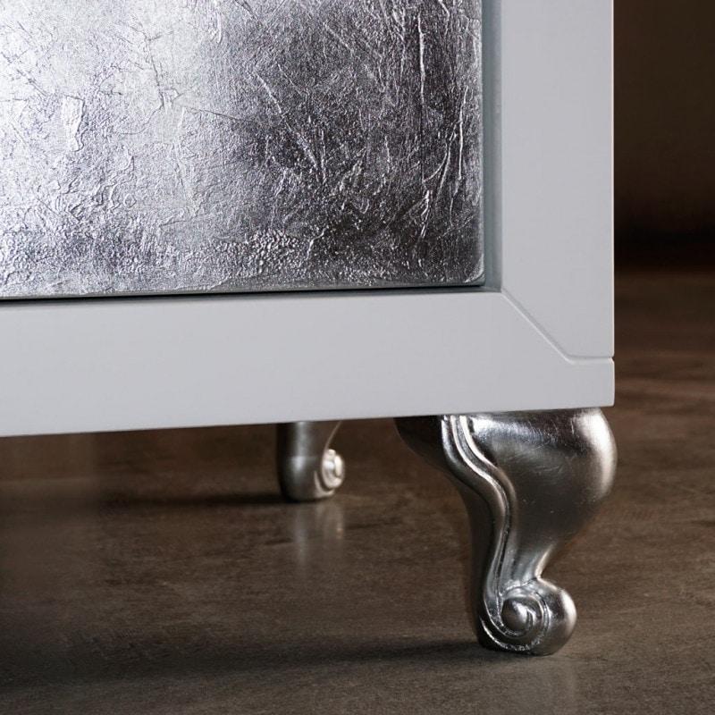 Sessanta GREEN5501B, Modern sideboard with silver doors